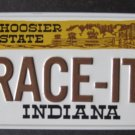 1982 POST CEREAL BICYCLE STATE LICENSE PLATE INDIANA