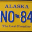 1982 POST CEREAL BOX BICYCLE STATE LICENSE PLATE ALASKA