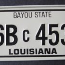 1982 CEREAL BOX BICYCLE STATE LICENSE PLATE LOUISIANA