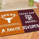 TEXAS LONGHORNS VS TEXAS A&M AGGIES RUG MAT NEW