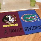 FLORIDA STATE SEMINOLES VS FLORIDA GATORS RUG MAT NEW