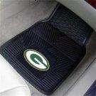 GREEN BAY PACKERS FOOTBALL CAR MATS GAME RUG FREE SHIP