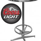 COORS LIGHT BEER BOTTLE BAR ROOM PUB TABLE FREE SHIPP