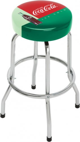 DRINK ICE COLD COCA COLA COKE BOTTLE BAR STOOL CHAIR