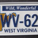 1982 CEREAL BICYCLE STATE LICENSE PLATE WEST VIRGINIA