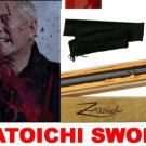 Zatoichi Blind Swordsman Samurai Movie Katana Sword Black