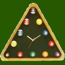 Billiard Pool Table Triangle Ball Set Rack Clock