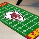 KANSAS CITY CHIEFS NFL FIELD RUG GAME MAT NEW FREE SHIP