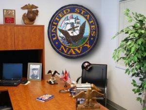 U.S. Navy Naval Ship Seal Patch Rug Mat Wall Hanging Free Shipping