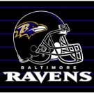 BALTIMORE RAVENS NFL FOOTBALL TEAM GAME HELMET RUG MAT
