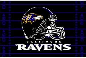 BALTIMORE RAVENS NFL FOOTBALL TEAM GAME HELMET RUG MAT