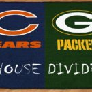 CHICAGO BEARS GREEN BAY PACKERS GAME MAT RUG FREE SHIP