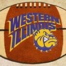 Western Illinois Leathernecks Football Shaped Rug Mat