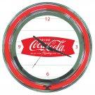 DRINK COKE COCA COLA SODA POP BOTTLE NEON SIGN CLOCK