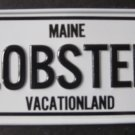 1982 POST CEREAL BOX BICYCLE STATE LICENSE PLATE MAINE