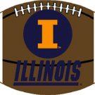ILLINOIS FIGHTING ILLINI UI FOOTBALL RUG MAT WOVEN 6 FT