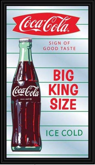 Coca Cola Coke Soda Pop Bottle Diner Bar Mirror Sign