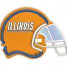 UI UNIVERSITY ILLINOIS ILLINI NEON GAME FOOTBALL HELMET