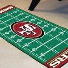 SAN FRANCISCO 49ERS FOOTBALL FIELD RUG MAT FREE SHIPPIN