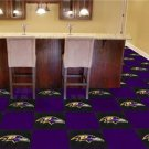BALTIMORE RAVENS FOOTBALL CARPET GAME RUG FLOOR TILE