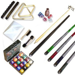 Billiard Pool Cue Balls Sticks Rack Brush Chalk Set New