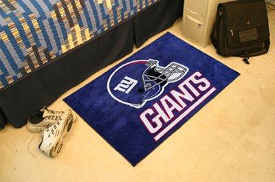 NEW YORK GIANTS NFL FOOTBALL TEAM HELMET RUG GAME MAT