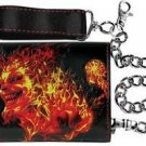 ICP Insane Clown Posse Concert Leather Chain Tri Fold Wallet Fire