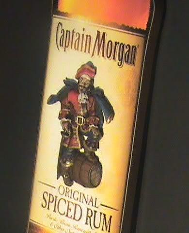 Captain Morgan Original Spiced Rum Bottle 3D Wood Bar Sign