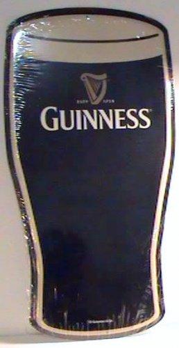 Guinness Draught Irish Pub Beer Pint Glass Tin Bar Sign