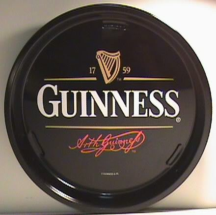 New Guinness Beer Irish Pub Beer Glass Bar Serving Tray
