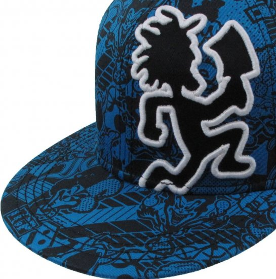 Insane Clown Posse ICP Concert Hatchetman Hat Cap Blue