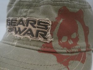Gears of War Xbox 360 Video Game OD Green Military Cadet Hat Cap