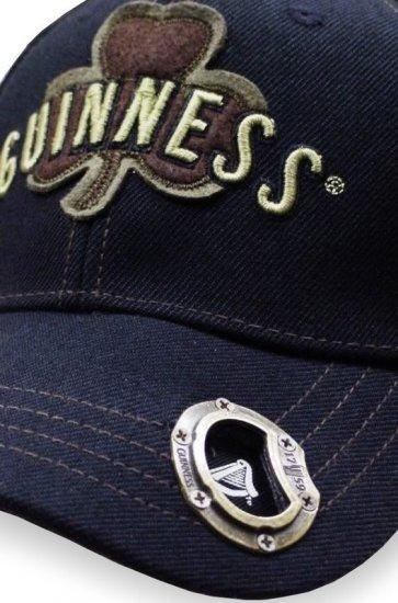 Guinness Irish Shamrock Clover Beer Bottle Opener Cap Hat Denim