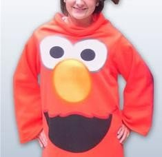Sesame Street Elmo Fleece Snuggie Blanket Pajama Robe Small