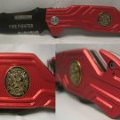 Fireman Red Fire Fighter Emergency Vehicle Rescue Knife