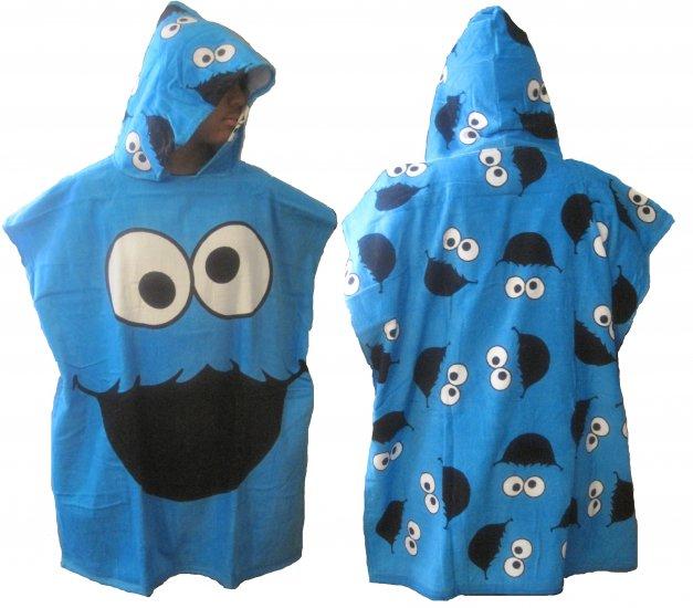 Sesame Street Cookie Monster Hooded Bath Beach Cotton Towel Robe
