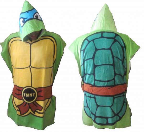TMNT Teenage Mutant Ninja Turtles Leonardo Action Figure Towel