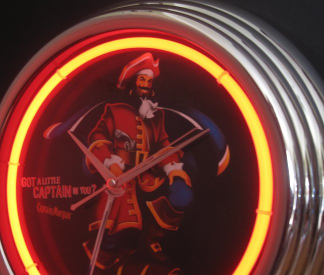 Got A Little Captain In You Captain Morgan Pirate Rum Bar Sign Neon Clock