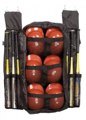 Baseball Softball Team Game Player Batting Bat Helmet Sport Equipment Fence Bag