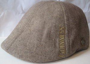 Guinness Irish Shamrock Beer Tweed Cabby Ivy Hat Cap Large
