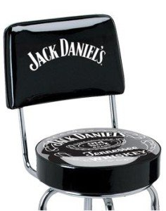 Jack Daniels Sour Mash Tennessee Whiskey Bottle Old 7 Bar Stool Pub Chair Seat