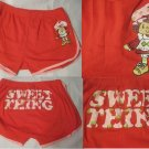 Strawberry Shortcake Red Hot Sexy Cheeky Junior Booty Shorts Size Medium