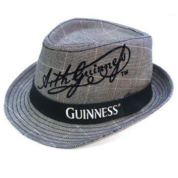 Guinness Irish Beer Dress Suit Fedora Pub Cap Hat L/XL