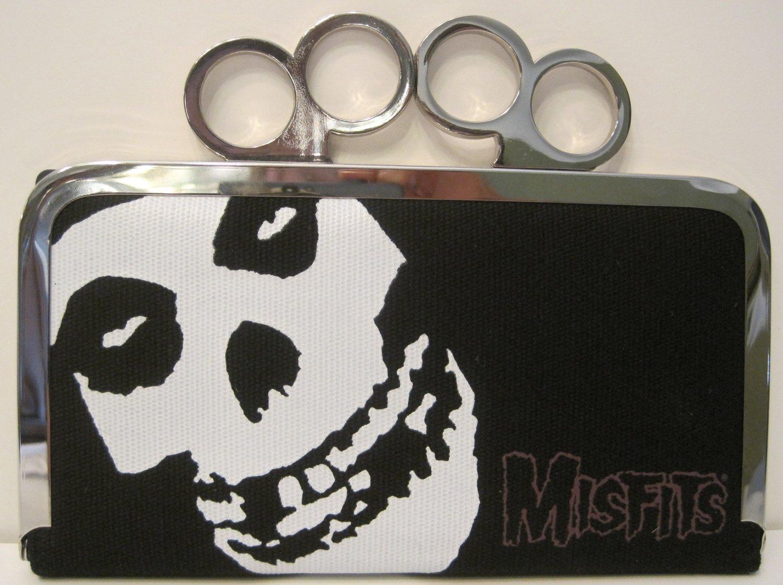 Misfits Punk Concert Brass Knuckle Duster Clutch Wallet