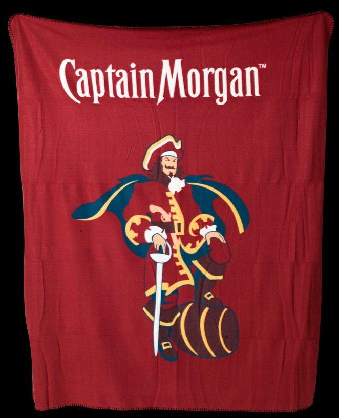 Captain Morgan Spiced Rum Pirate Fleece Throw Blanket