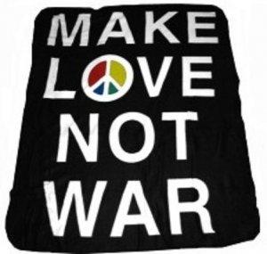 Make Love Not War Peace Sign Symbol Fleece Blanket New