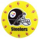 Pittsburgh Steelers Football Game Helmet Glass Clock