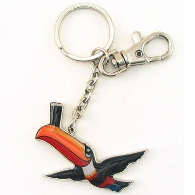 Guinnness Extra Stout Beer Toucan Keychain Key Ring FOB