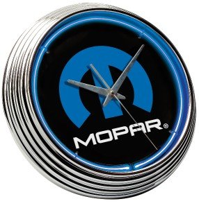 Chrysler Dodge Mopar Hood Fender Emblem Neon Clock Sign