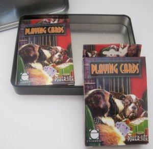 Coolidge Dogs Playing Poker Art Painting 2 Card Decks Tin